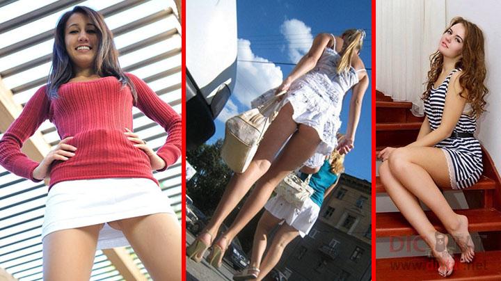 Девушки в очень коротких платьях #15