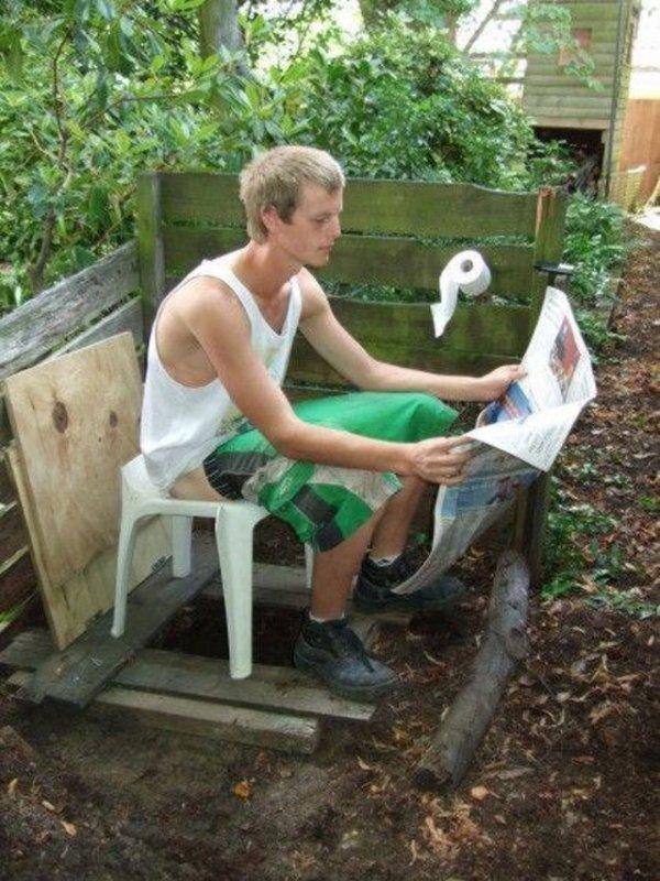 Идеи для туалета на даче 107