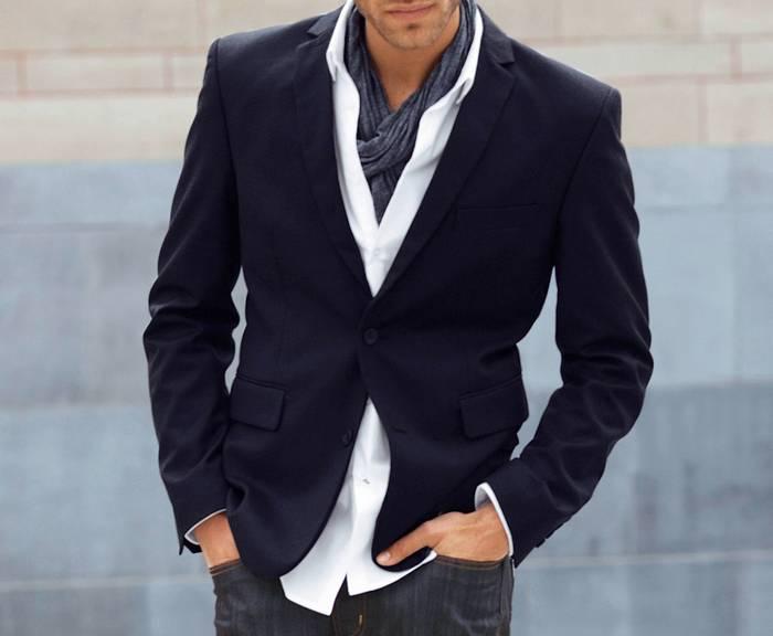 молодёжные мужские пиджаки под джинсы фото