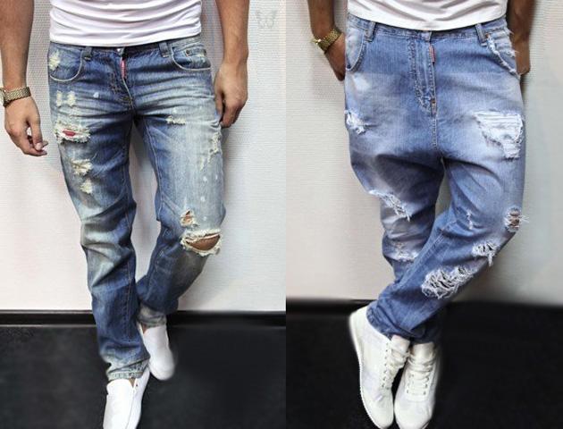 Как сделать порванные брюки