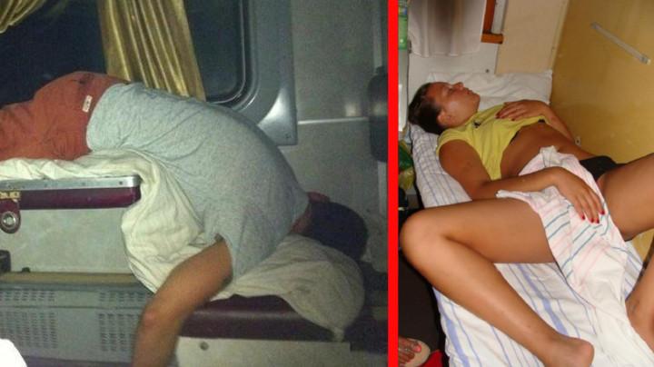 Рыжую азиатку оттрахали в поезде