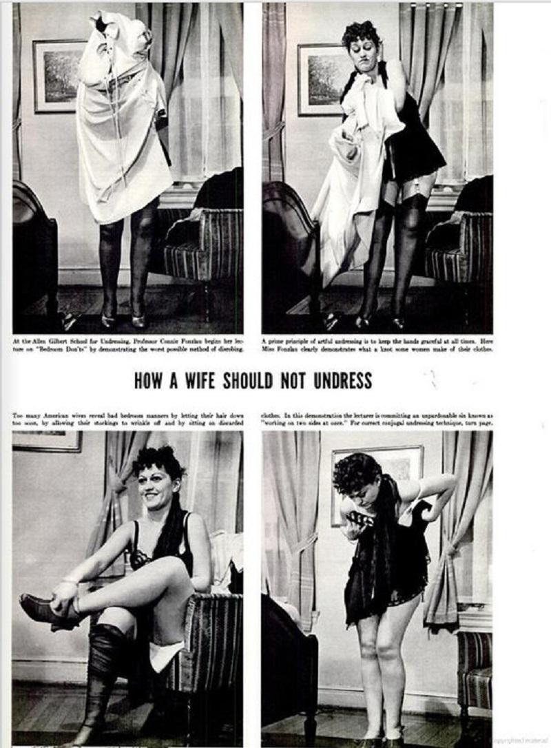 жена показывает трусы